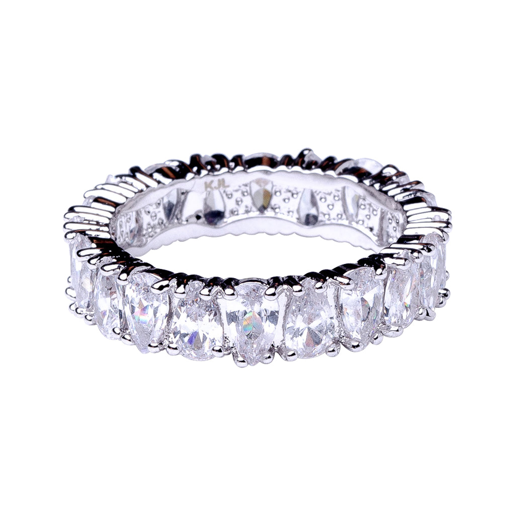 Pear Eternity Band Ring