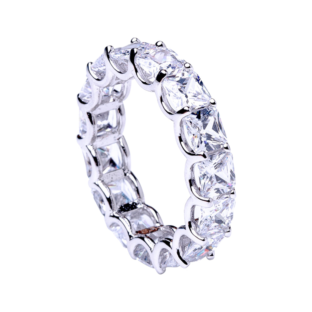 Asscher Cut Eternity Band Ring