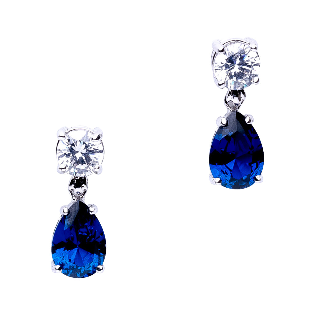 Delicate Sapphire Drop Earrings
