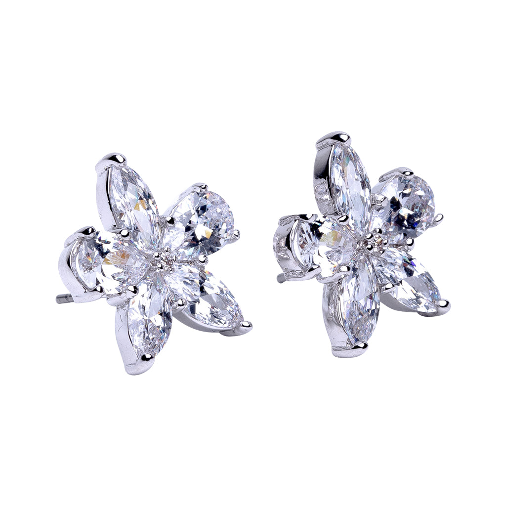 Pear and Marquise Shaped Stud Earrings
