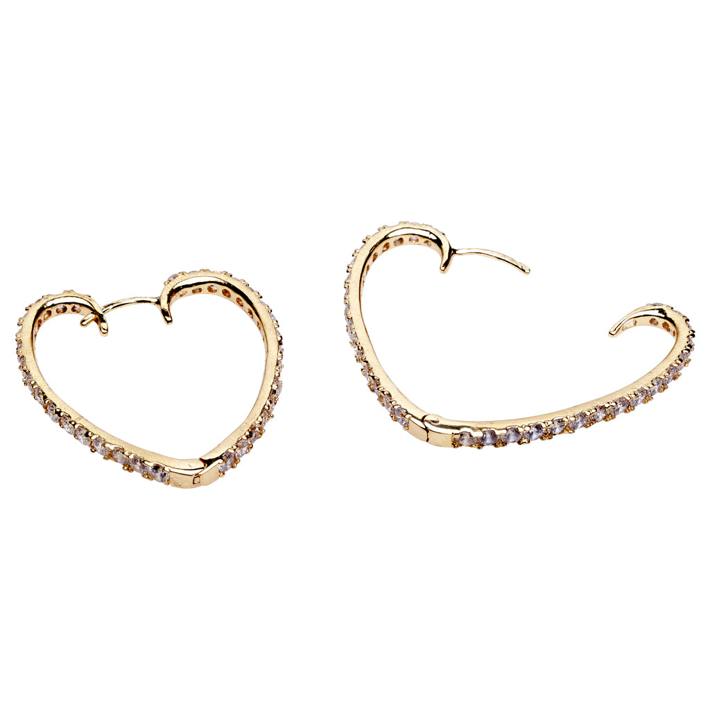Heart Shaped Hoop Earrings