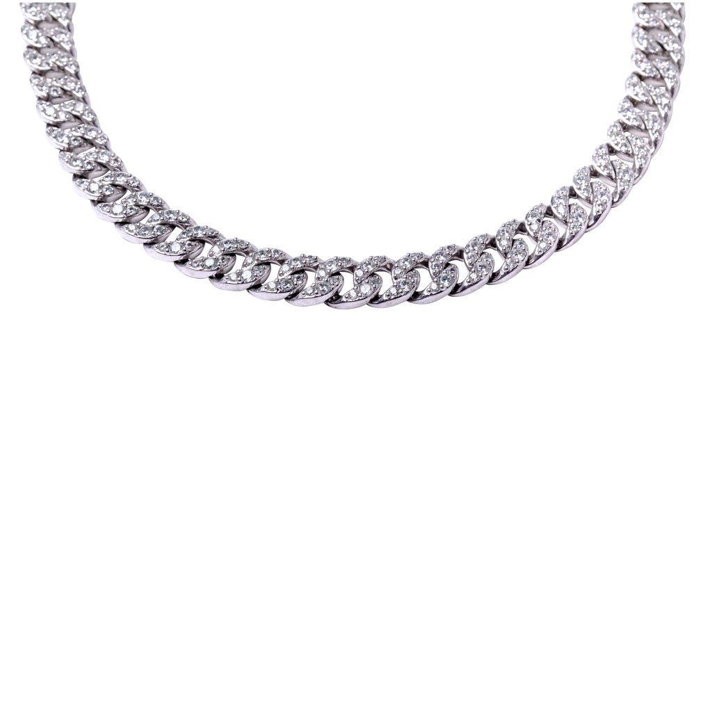 Round Pave Fancy Link Necklace