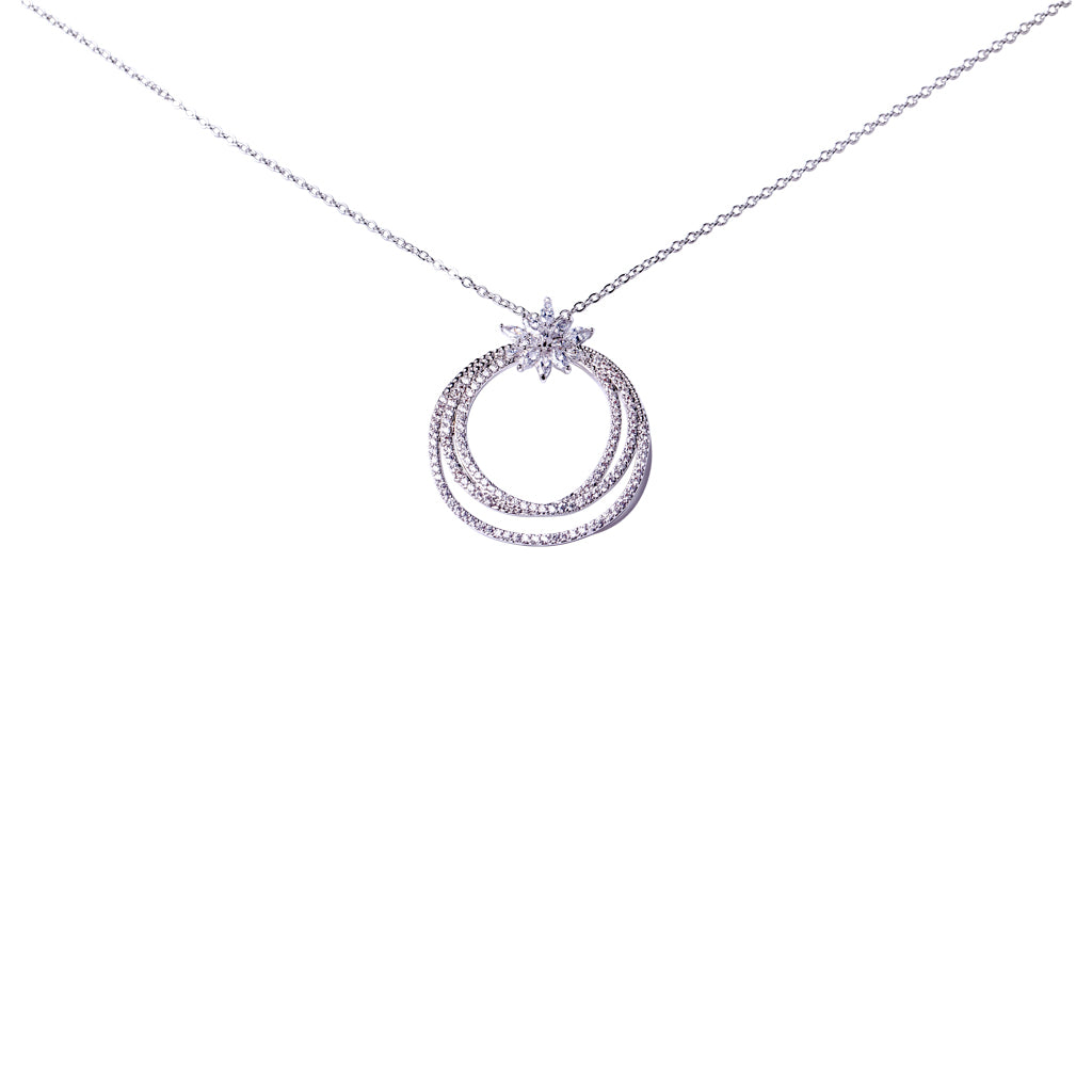 Three Ring Marquise Pendant