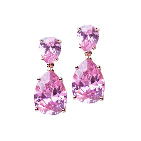Dangling Flower Statement Earrings