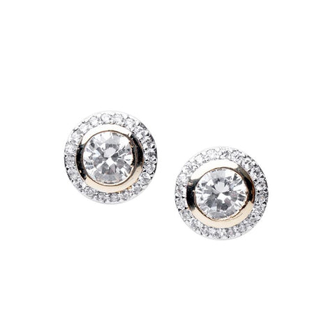 Luxe Round Stud Yellow Gold Setting
