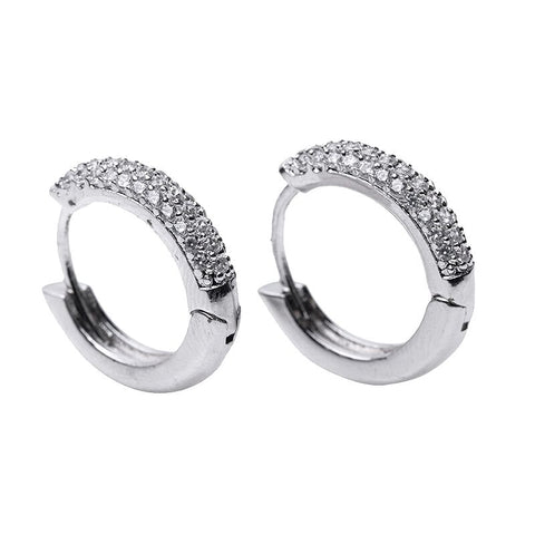 Oval CZ Stud Earrings
