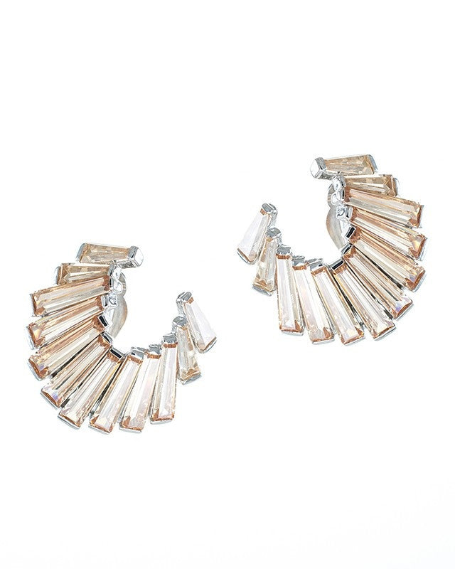 Baguette Crescent Earrings