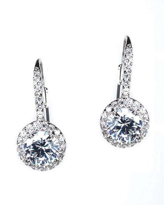 Petite Round Drop Earrings