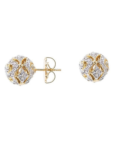 Filigree Ball Stud Earrings