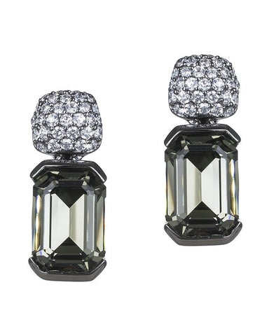 Asscher Cut Geometric Earrings