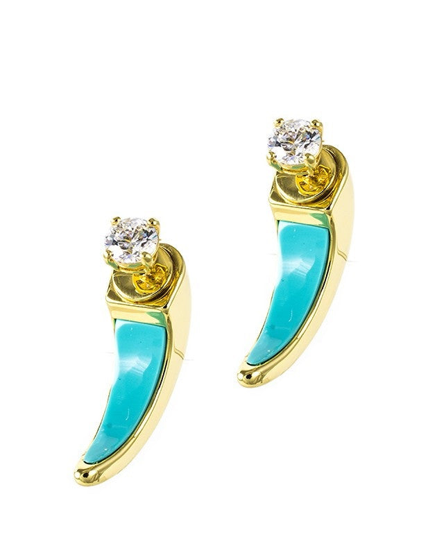 Turquoise Front-to-Back earrings