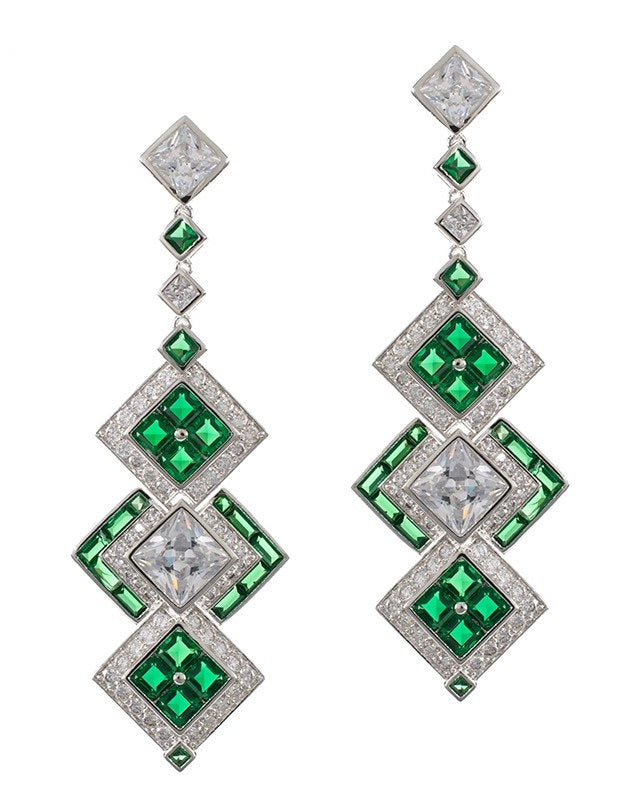 Emerald Art Deco Earrings