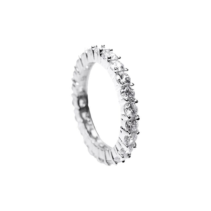 Round CZ Eternity Band