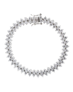 Round Double Row CZ Bracelet