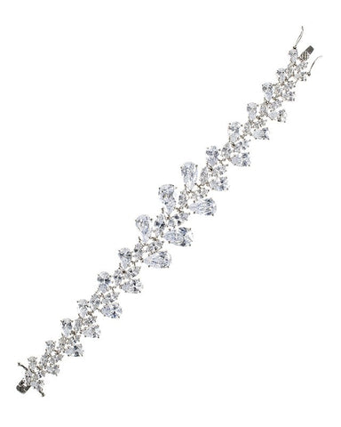 Pear CZ Statement Bracelet