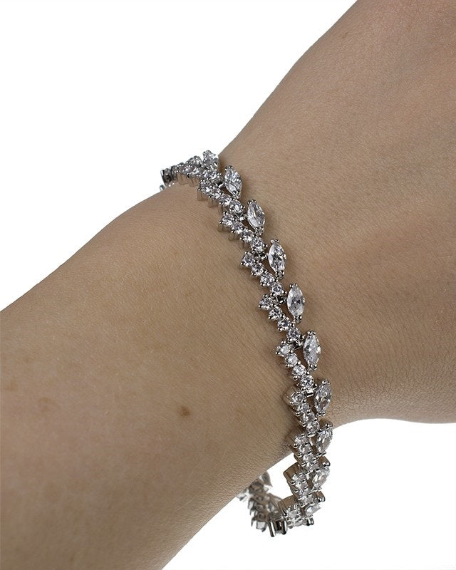 Round and Marquise CZ Bracelet