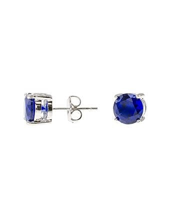 Blue Sapphire Luxe Round Stud