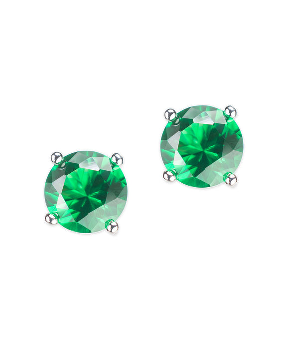 Emerald Luxe Round Stud