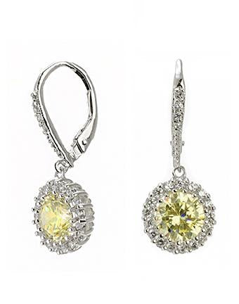 Classic Round Canary Drop Pierced Earring