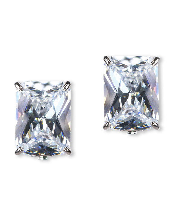 Statement Emerald Cut Studs