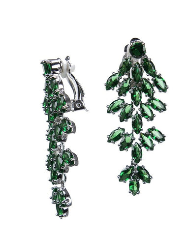 Emerald Marquise Waterfall Clip Earring
