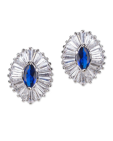 Sapphire Marquise Pierced Earring