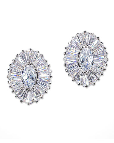 Marquise Pierced Earring