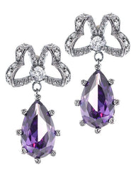 Amethyst Bow Earrings