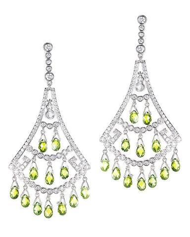 Pave CZ Double Teardrop Earrings
