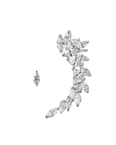 MARQUISE CZ CLUSTER CRAWLER W/STUD