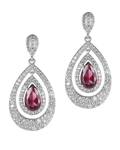 Double Swing Teardrop Earrings