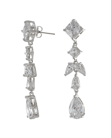 Pave CZ Dangle Earring