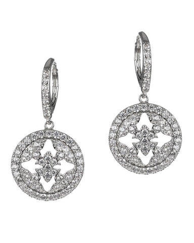 Duchess Pave Disc Earrings