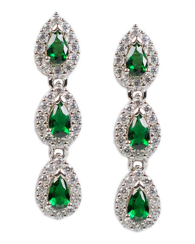 Sliced CZ Chandelier Earring