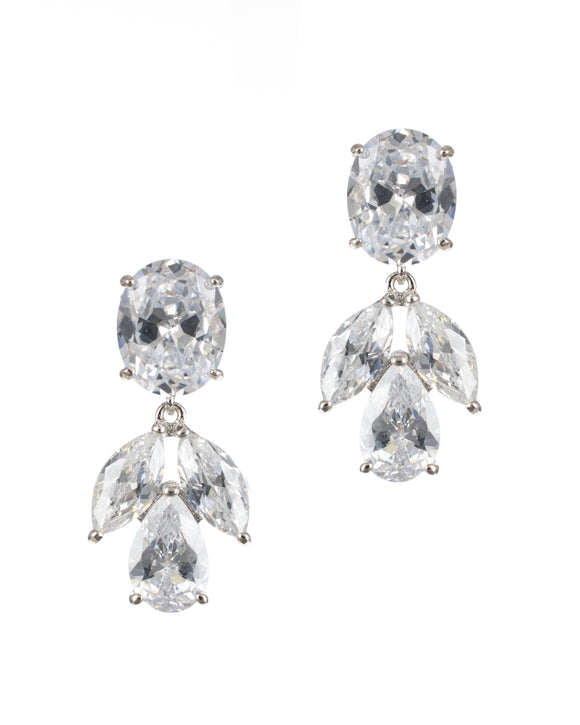Multi Shape CZ Drop Earrings