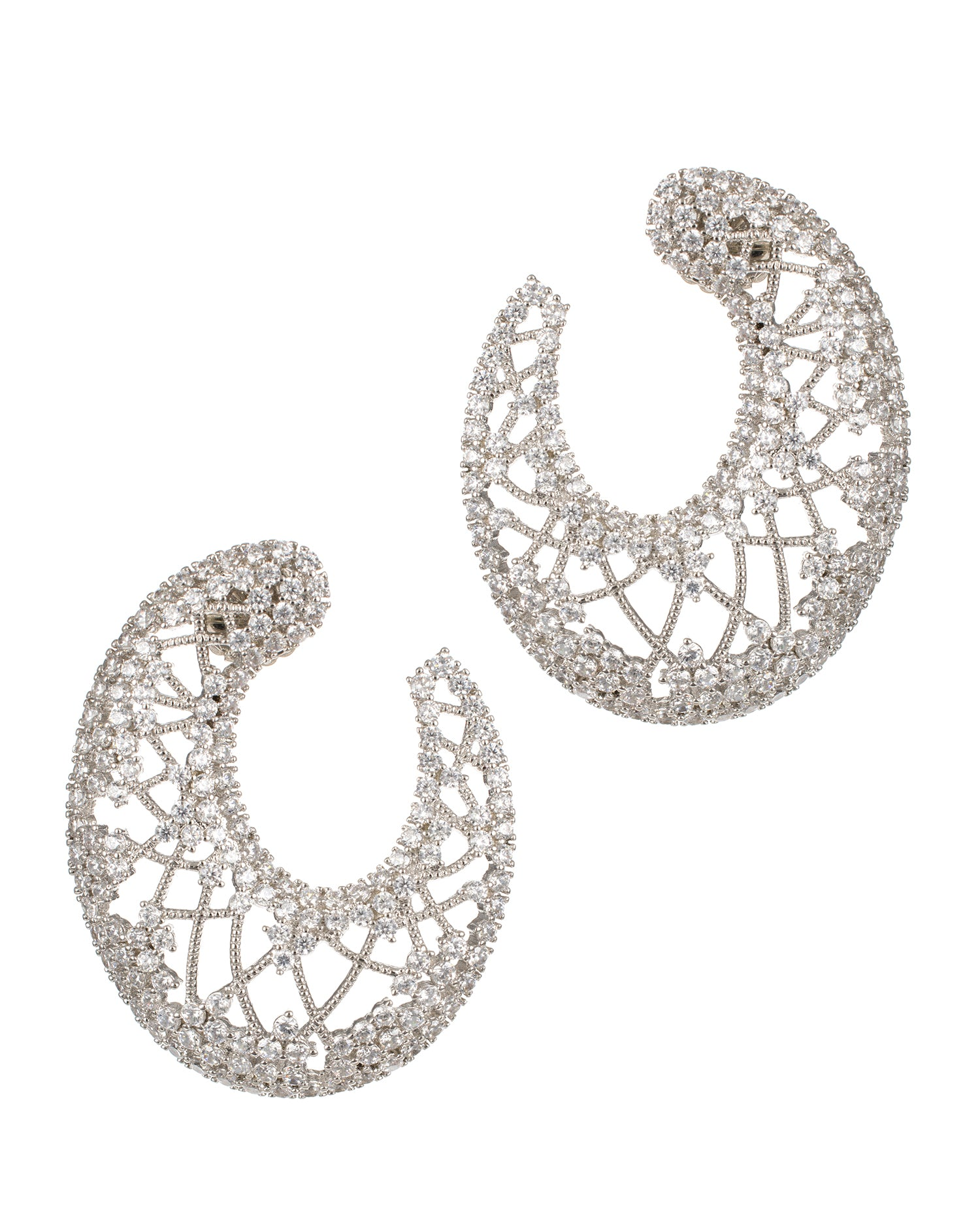 Pave CZ Lace Earrings
