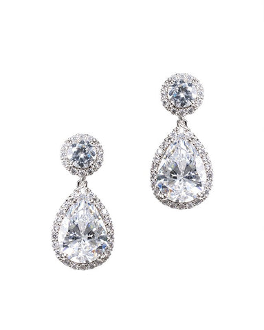 Round and Marquise Open Circle Earrings