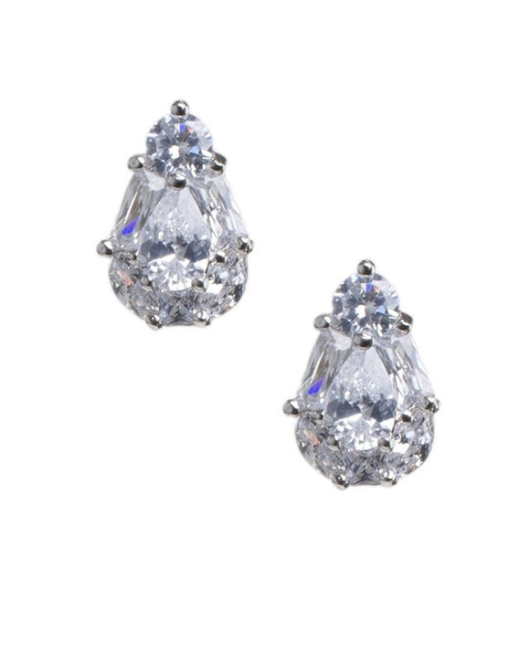 Pear Multi Shape Stud