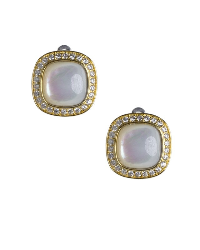 Mother of Pearl Clip On Earrings