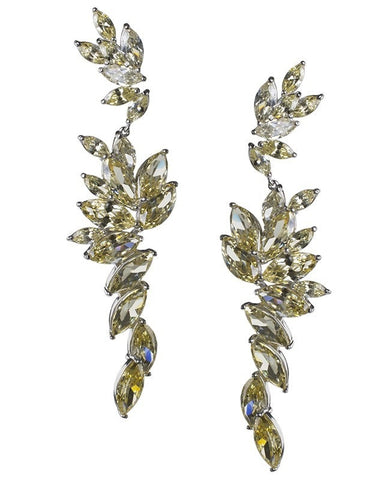 Canary Cascading Marquise  Statement Earrings