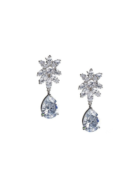 Pear and Marquise Drop Earrings