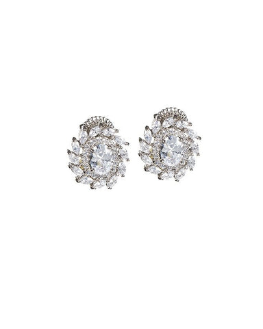 Oval and Marquise Stud Earrings