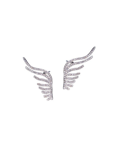 Pave Wing Earrings