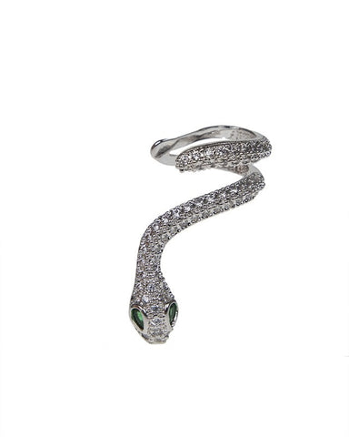 Snake Pave Ear Cuff