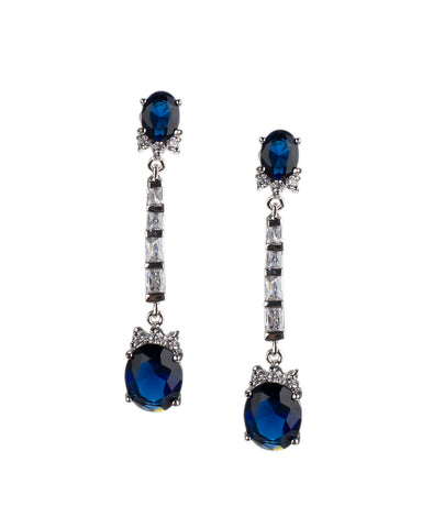 Champagne and Topaz Cushion Drop Earrings