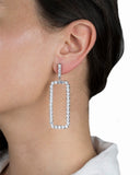 Open Rectangle Earrings