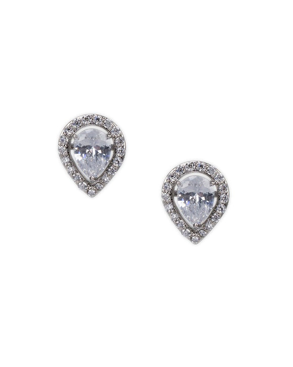Pear Stud Jacket Earrings
