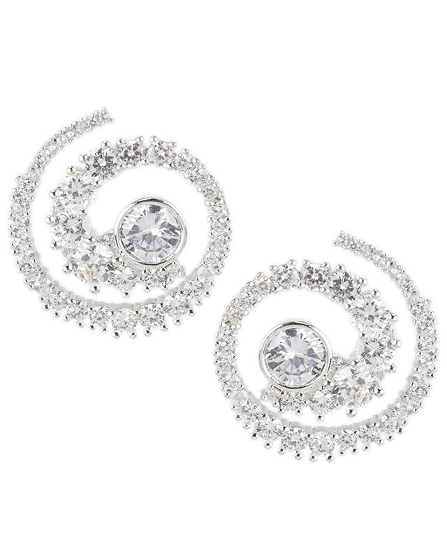 CZ Spiral Earrings