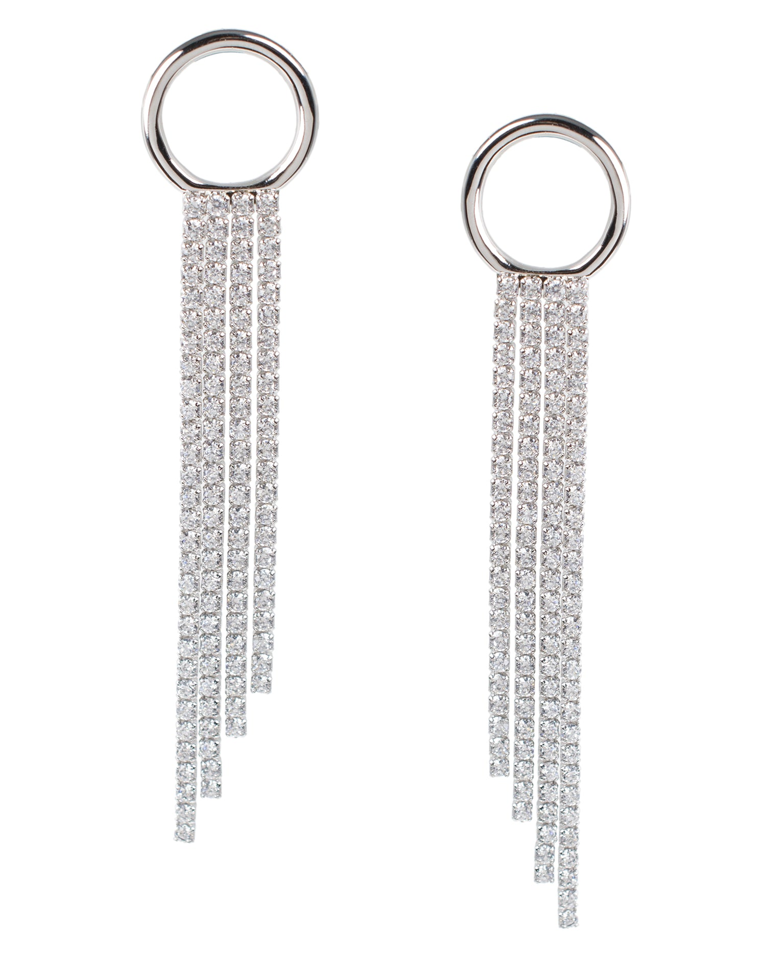 CZ Fringe Earrings