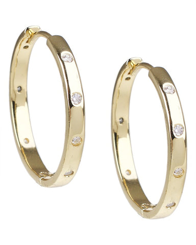 Baguette Inside Out Hoop Earrings